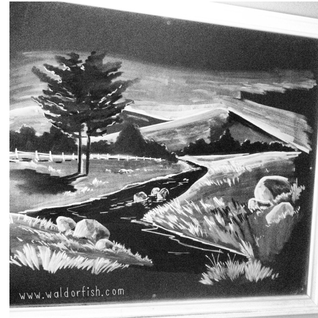 """Black & White chalk drawing series – 4 Parts (click image to purchase) This amazing 4-part video series from Brian and Robyn Wolfe will be helpful for all skills and ages. Learn different techniques of holding both chalk and your hands to produce various styles of drawings, as well as your fingers to create different depths, shadows, and how to """"blend."""" Videos include basic chalk techniques, fences, grass, spheres, basket-weave and ribbons, shading, rocks, and trees. Learn how to use black and white chalk to create light sources and their effects with landscape practice. In just under 30 minutes combined, these videos will take you from a hesitant beginner to confident chalkboard artist! Price:$30.00"""