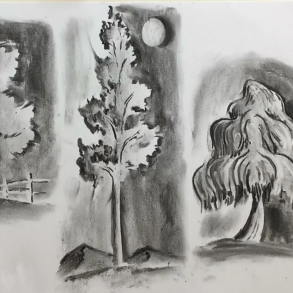 Oct - Week Three - Charcoal, kneadable eraser & drawing paper
