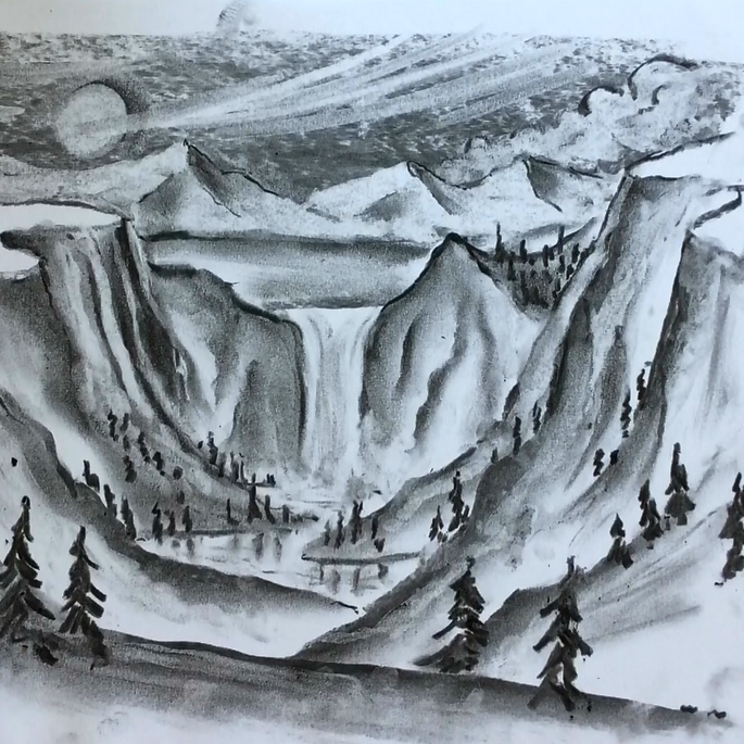 Feb - Week Four - Charcoal, kneadable eraser & drawing paper