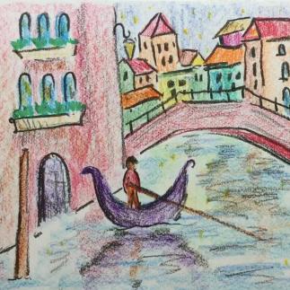April - Week Four - Crayon (block & stick) and drawing paper