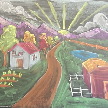 August - Week Three - Chalk/Pastel Perspective