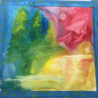 August - Week Four - Wet on wet color-wheel