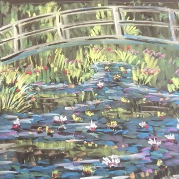 Dec - Week Two - Chalk/Pastel on black paper or chalkboard (Monet inspired)