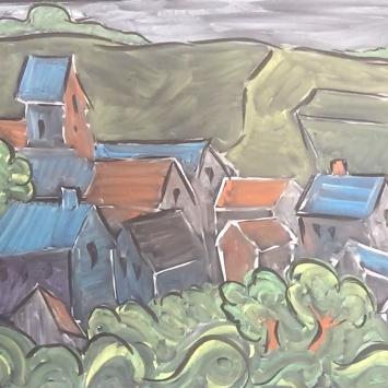 Feb - Week Two - Chalk/Pastel on chalkboard or black paper - (Van Gogh inspired)