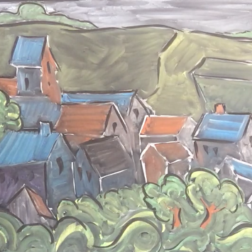 Lesson Twenty-four: Chalk/Pastel on chalkboard or black paper - (Van Gogh )