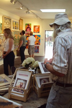 jeanette williams fine art gallery. canyon road in santa fe, new mexico. 2009.