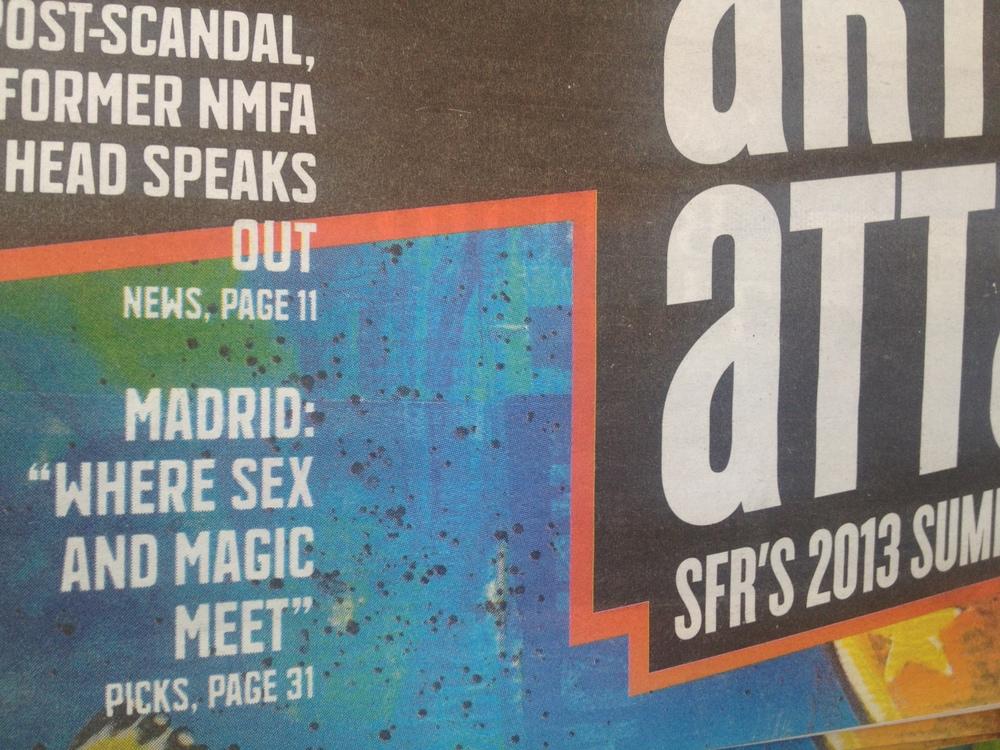 cover of 'the reporter' in santa fe
