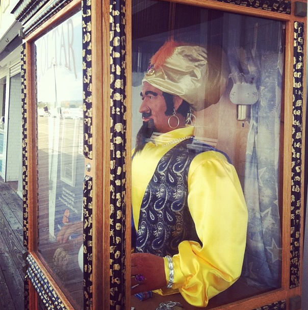 Zoltar, on the boardwalk at Rehobeth Beach, Delaware