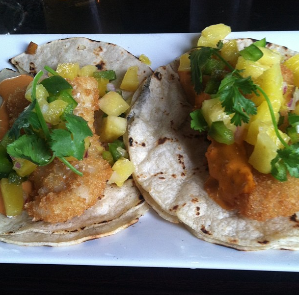 Fish tacos made by my brother, chef at Public in North Adams, Massachusetts