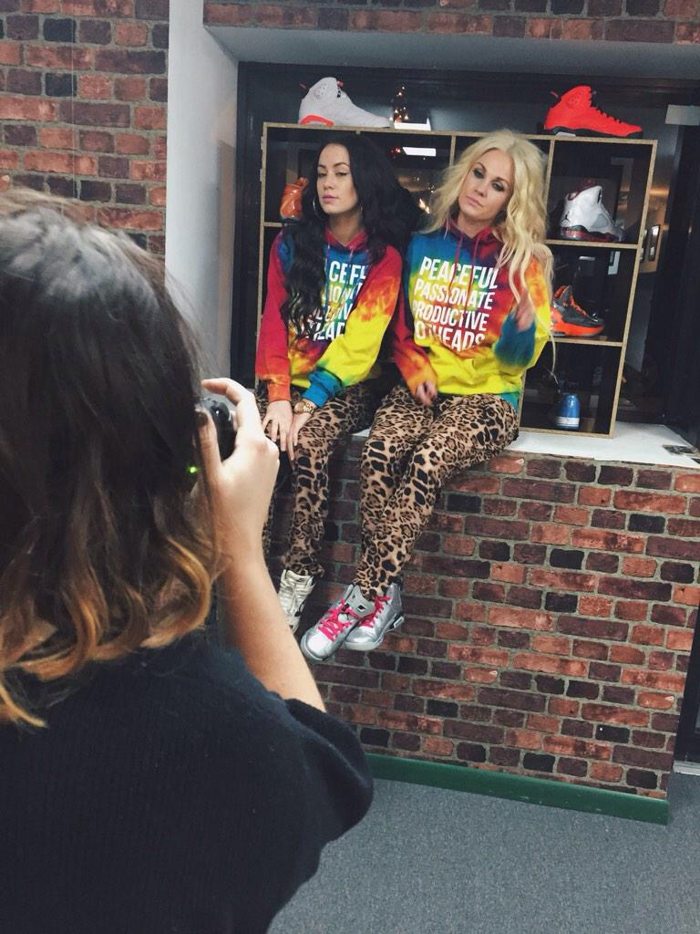 Behind the scenes of a Some Girls Get High Photoshoot. Photo courtesy High Off Kicks.