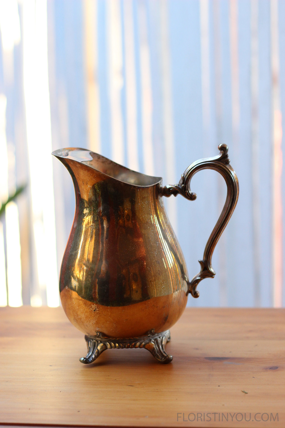 Then get out Grandma's silver pitcher.  You may polish it or leave its natural patina.