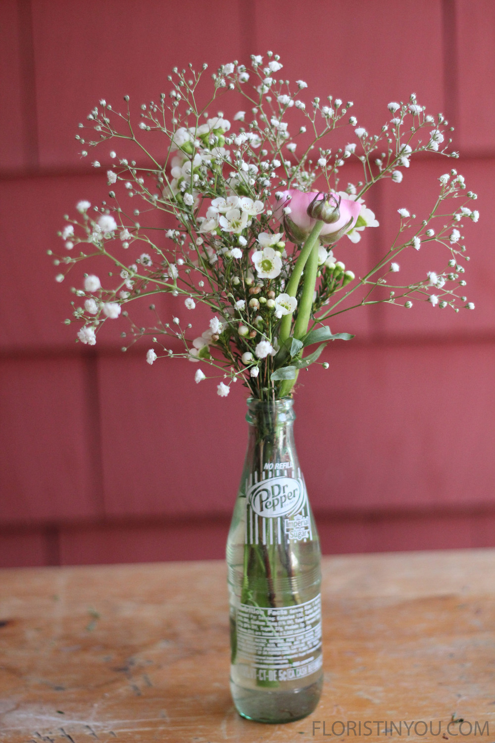 Flowers in a Soda Bottle