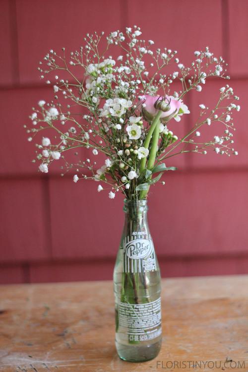Flowers in a Soda Bottle