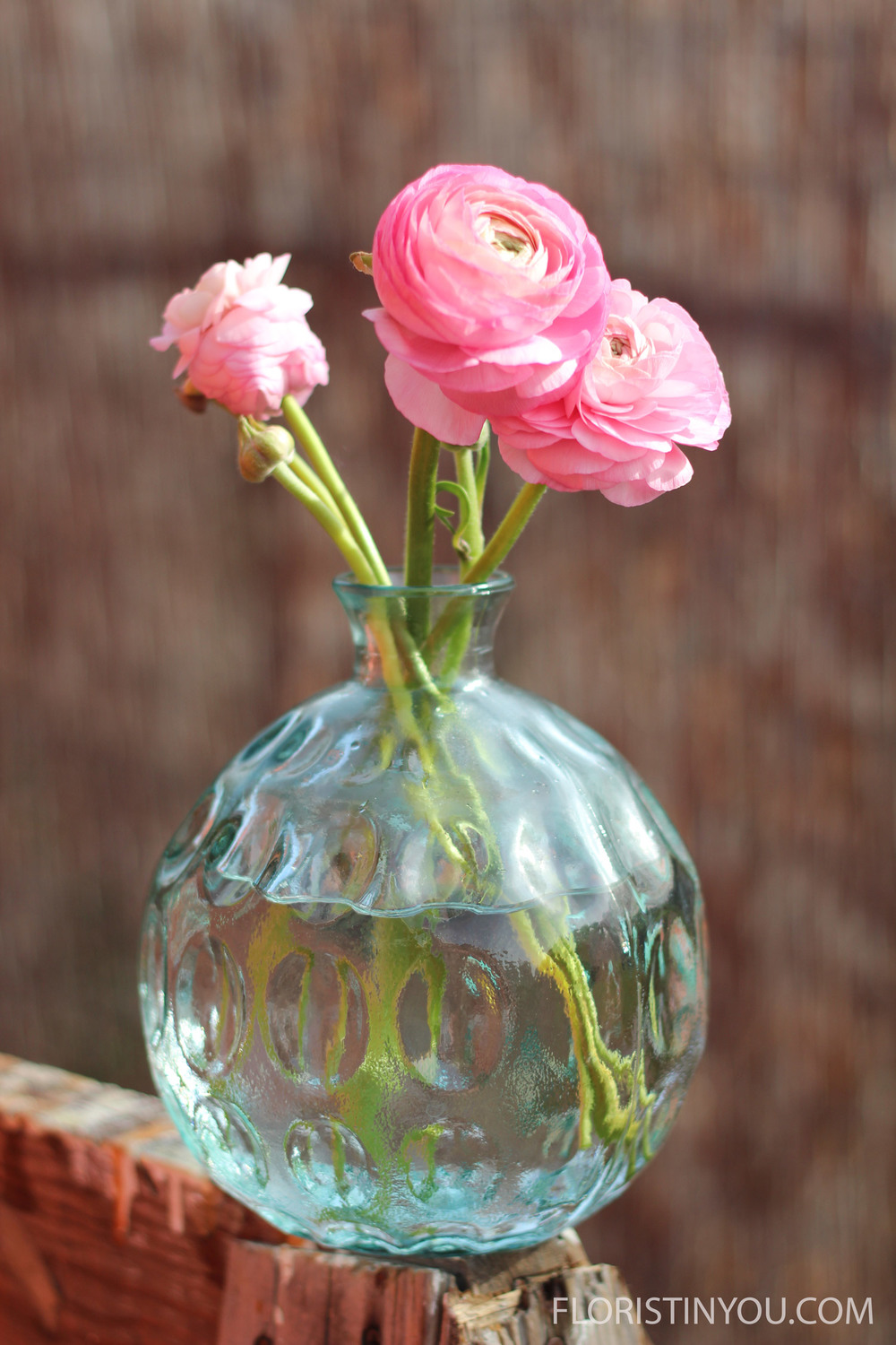 Recycled Glass Ranunculus