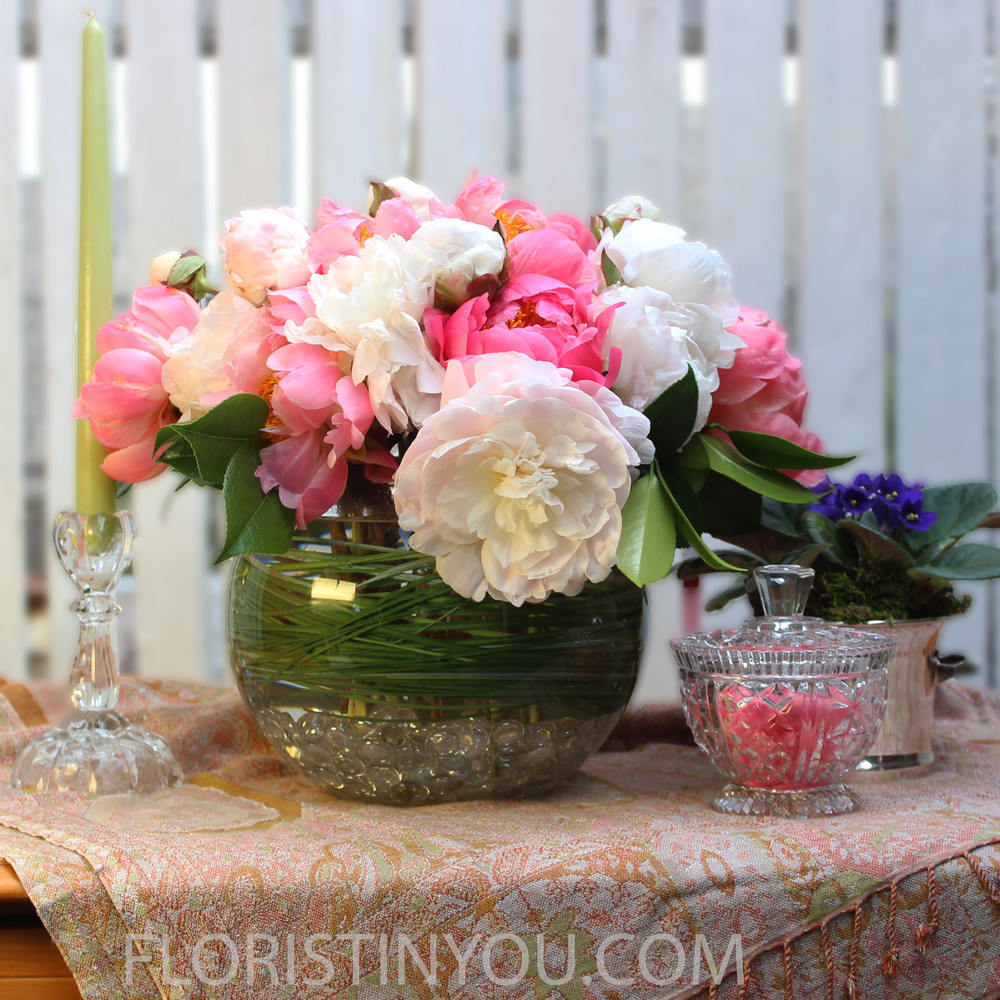 Beautiful Spring Centerpiece Ahhh Peonies