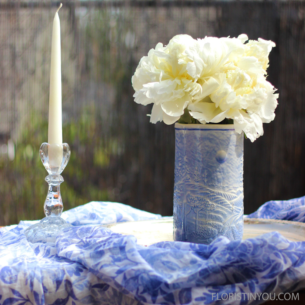 Make a Peonies Arrangement for $4.99