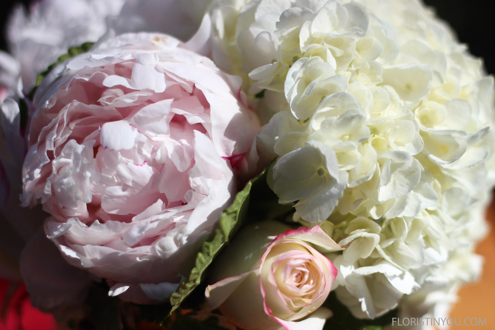Of the peonies, hydrangea, and roses.