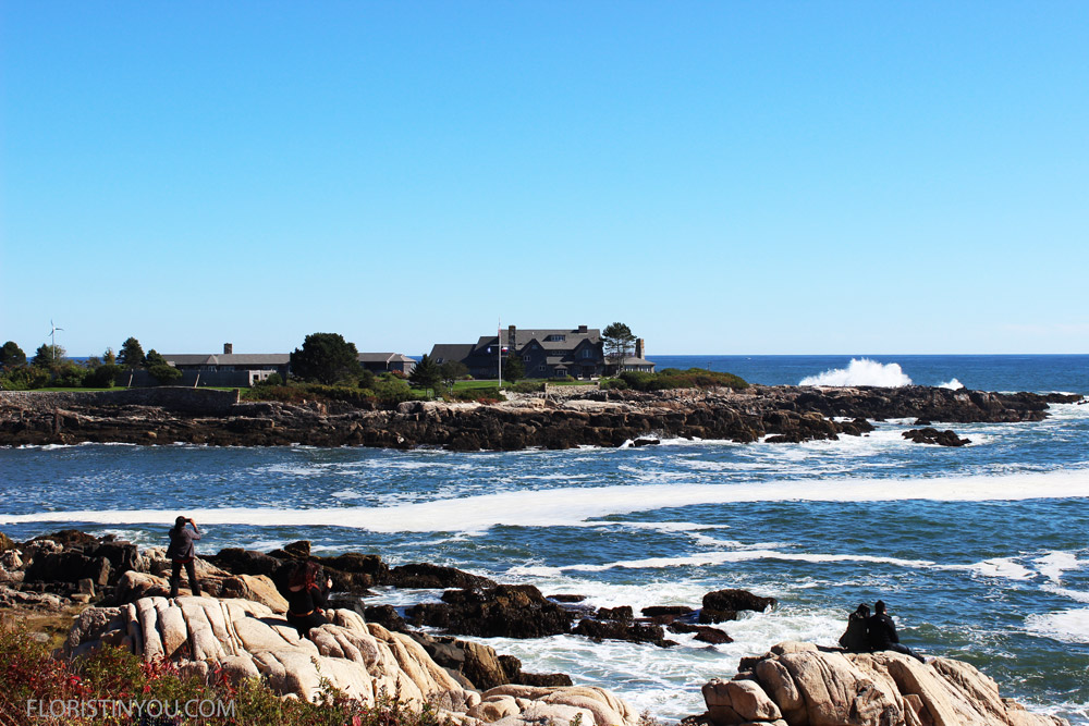 This is the Bush family compound.  It is exquisite and juts out into the ocean.