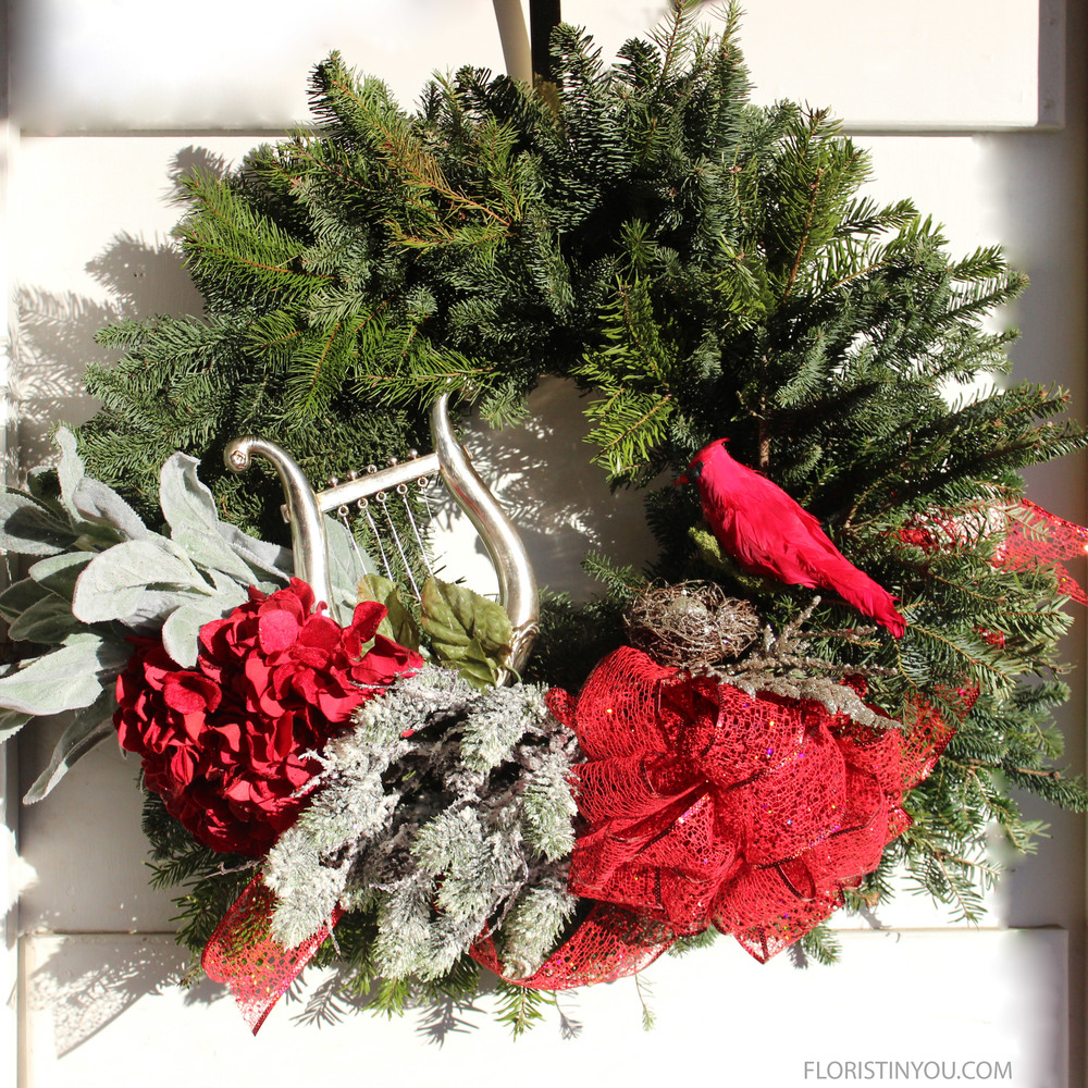 Well thanks, Dobie and Buddy. And now you are done with this winter wreath.