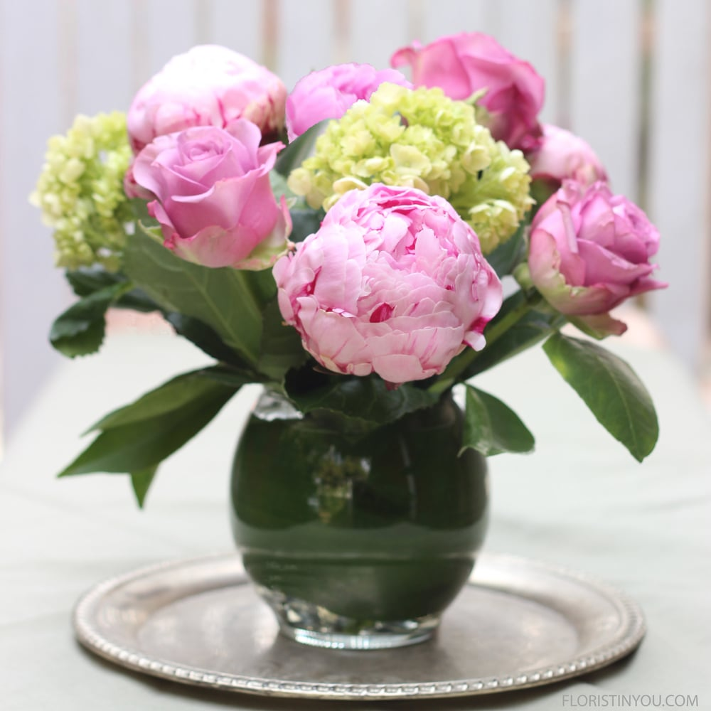Winter Peonies and Roses