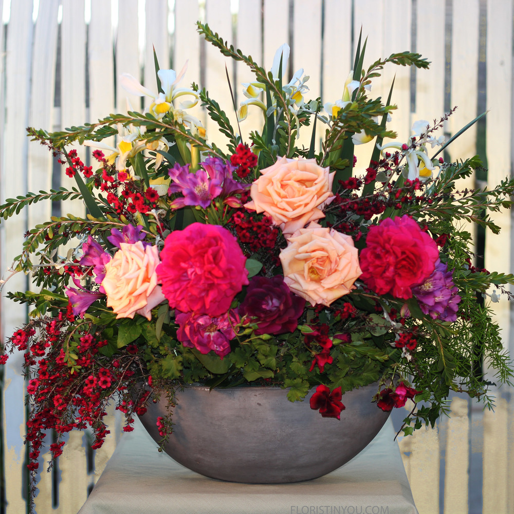 Here is the front.  You are done with this large spring arrangement.  Enjoy!