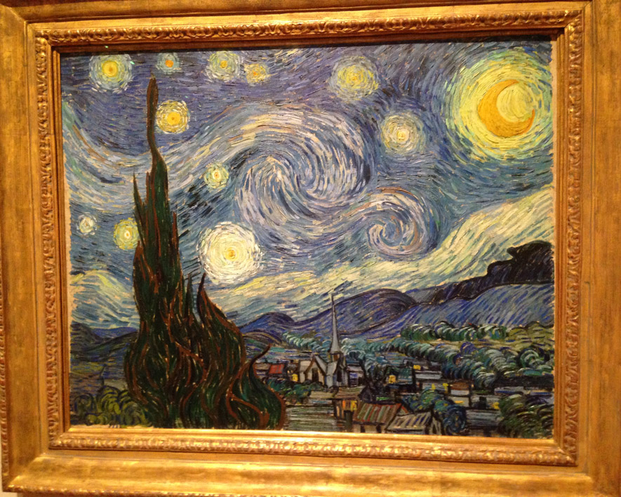 Wow, here is Starry Night, by Vincent Van Gogh.