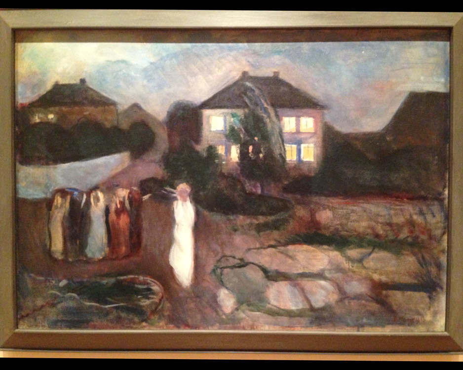 Look there's a Four Square house (my favorite style of houses) in Edvard Munch's painting!