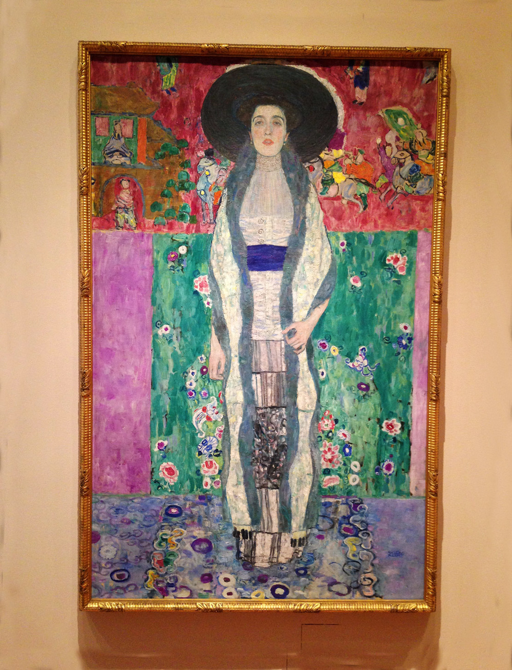 I love the colors in this Klimt portrait.