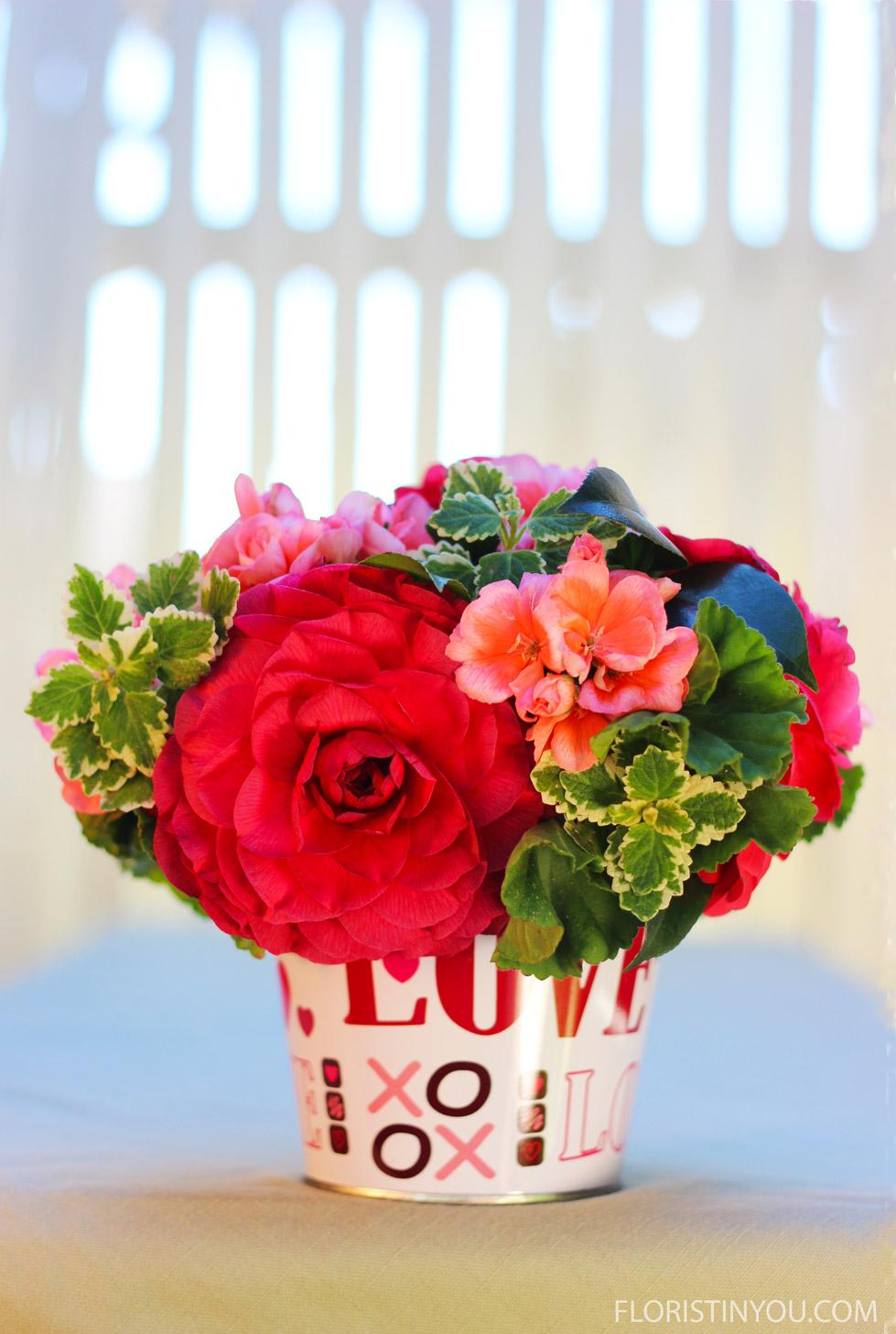 Valentine Flower Arrangement Floristinyou