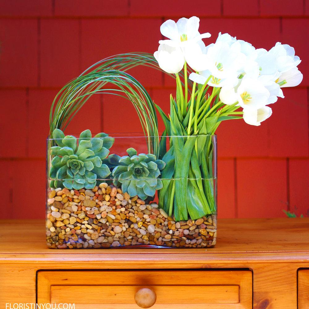 Modern Arrangement with Tulips