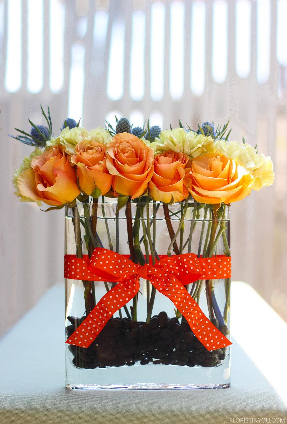 Roses, Putumayo Carnations and Amethyst Sea Holly