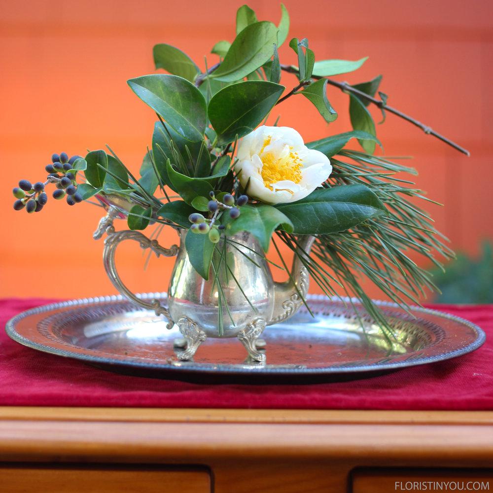 Add Privet Berry &1 Camellia bud.