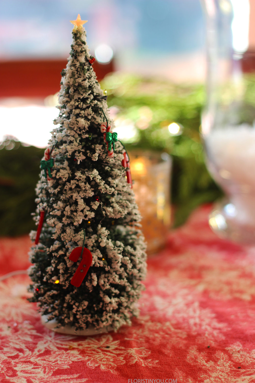 Hang ornaments on tree.