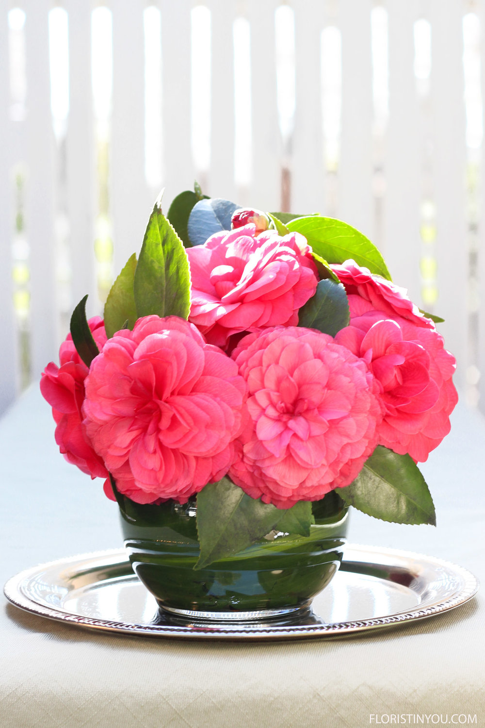Now you have a beautiful little centerpiece from your garden.  Enjoy.