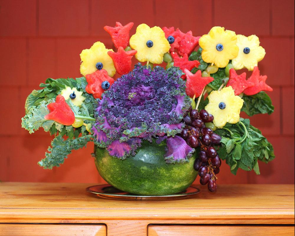 Add rest of fruit flowers.