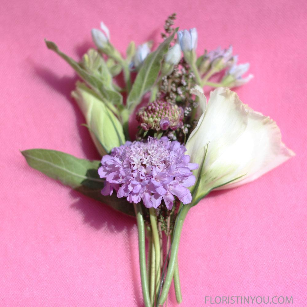 Add 3.5 inch Lavender Scabiosa.
