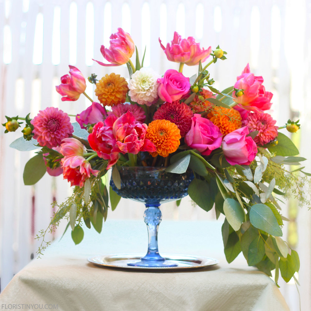 Hot Color Palette Arrangement