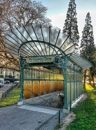 Art Nouveau Paris Subway Entrance