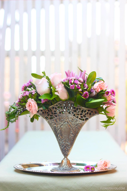 "Vintage Fan Vase with a Petite Bouquet                     Normal   0           false   false   false     EN-US   JA   X-NONE                                                                                                                                                                                                                                                                                                                                                                              /* Style Definitions */ table.MsoNormalTable {mso-style-name:""Table Normal""; mso-tstyle-rowband-size:0; mso-tstyle-colband-size:0; mso-style-noshow:yes; mso-style-priority:99; mso-style-parent:""""; mso-padding-alt:0in 5.4pt 0in 5.4pt; mso-para-margin:0in; mso-para-margin-bottom:.0001pt; mso-pagination:widow-orphan; font-size:12.0pt; font-family:Cambria; mso-ascii-font-family:Cambria; mso-ascii-theme-font:minor-latin; mso-hansi-font-family:Cambria; mso-hansi-theme-font:minor-latin;}"