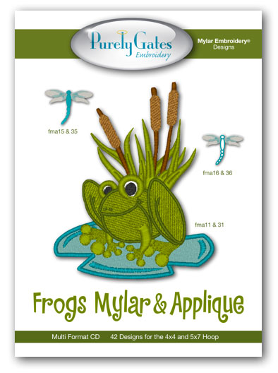 Frogs Mylar and Applique
