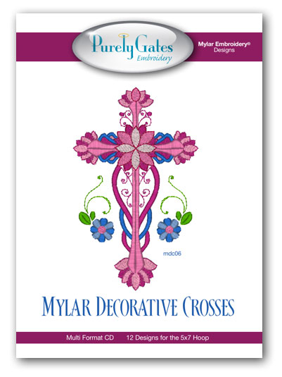 Mylar Decorative Crosses