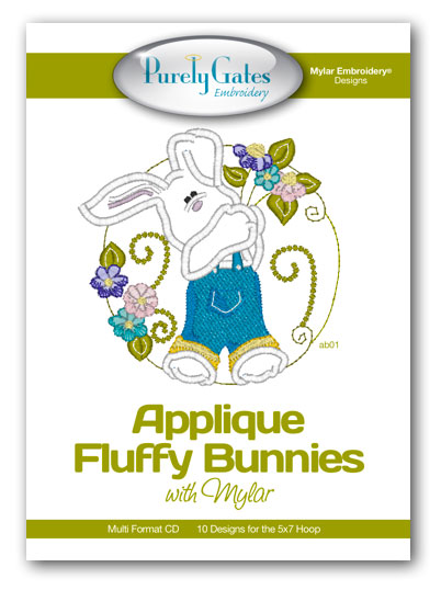 Applique Fluffy Bunnies with Mylar