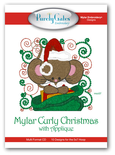 Mylar Curly Christmas with Applique