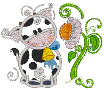 Cow and Flower