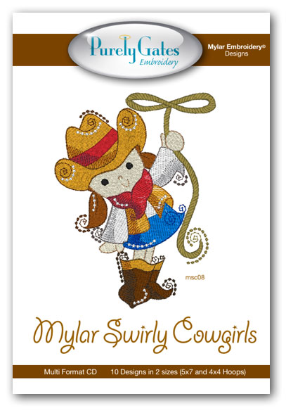 Mylar Swirly Cowgirls