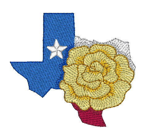 Mylar Texas 3 Purely Gates Embroidery