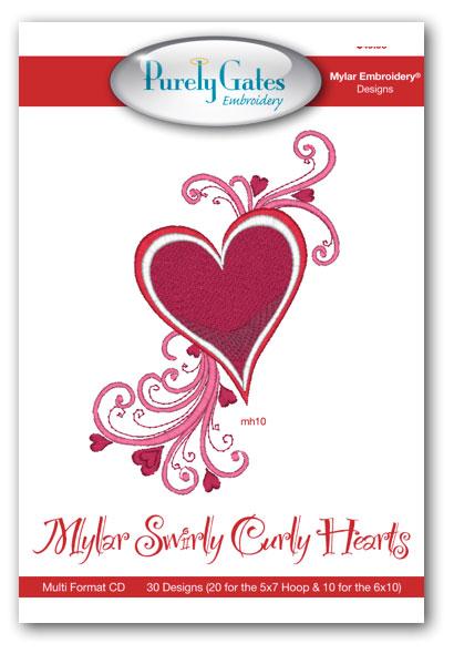 Mylar Swirly Curly Hearts