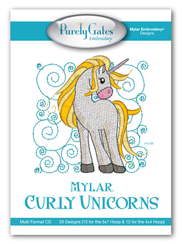 Mylar Curly Unicorns