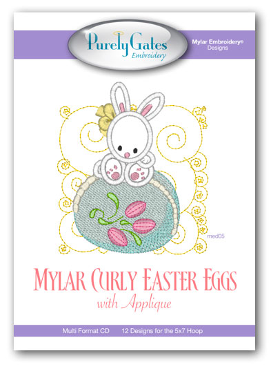 Mylar Curly Easter Eggs with Appliqué