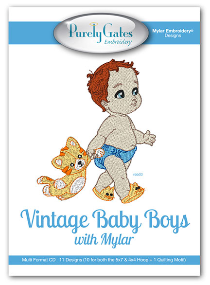 Vintage Baby Boys with Mylar